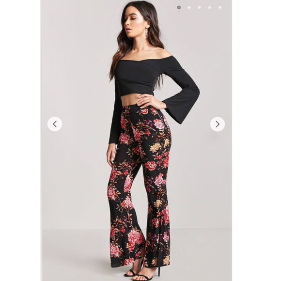 vast selection so cheap exclusive shoes New Look Flared Floral Pants NWT